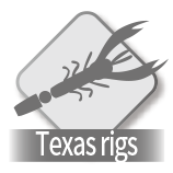 Lure = Texas rigs